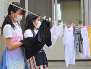 家庭科 洗濯実習